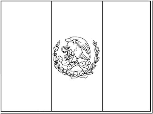 flag of mexico coloring pages coloring pages